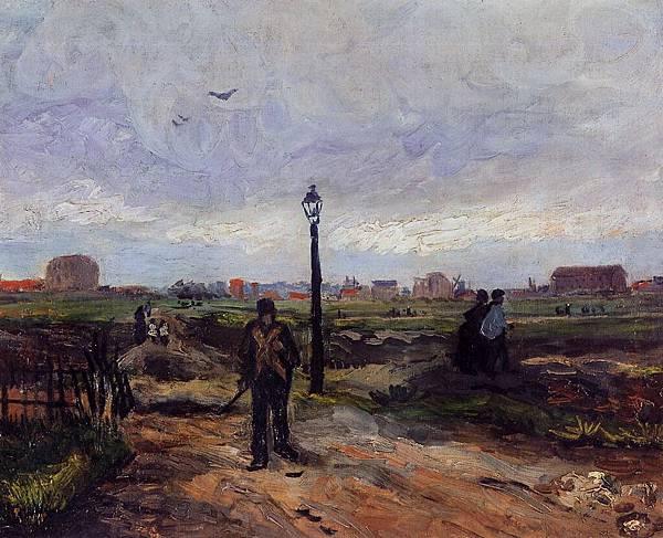 Outskirts of Paris - (Vincent van Gogh - 1886)