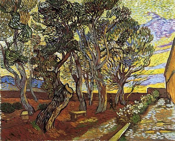 The Garden of the Asylum in Saint-Remy - (Vincent van Gogh - 1889) 2