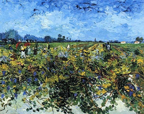 The Green Vinyard - (Vincent van Gogh - 1888)