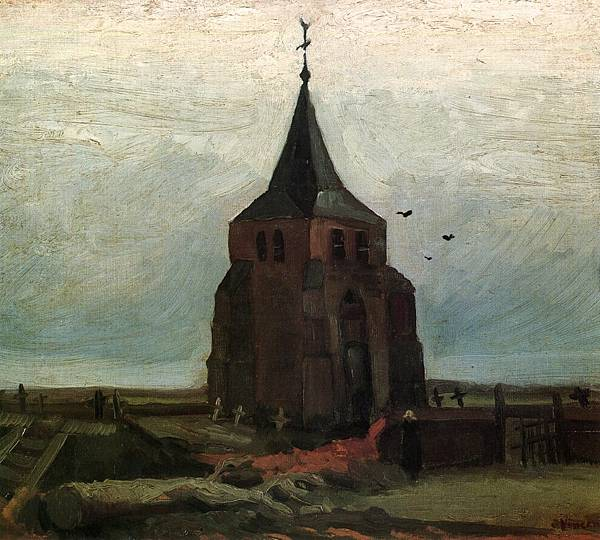 The Old Tower - (Vincent van Gogh - 1884)