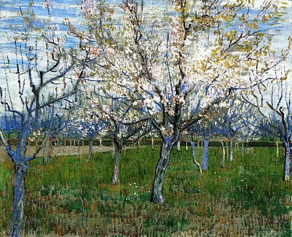 The Pink Orchard - (Vincent van Gogh - 1888)