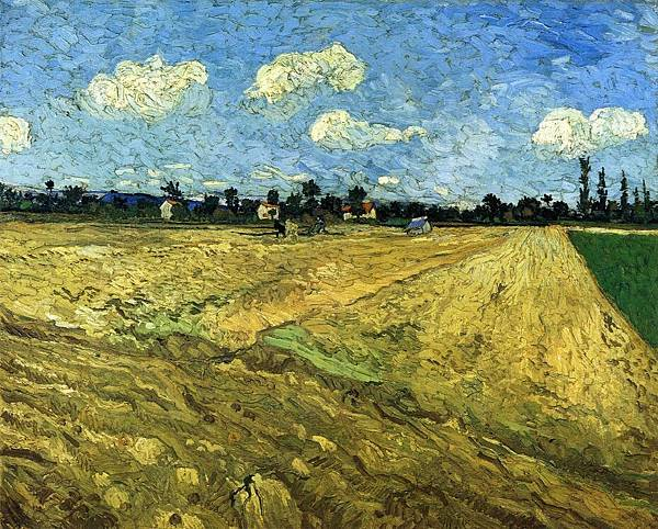 The Ploughed Field - (Vincent van Gogh - 1888)