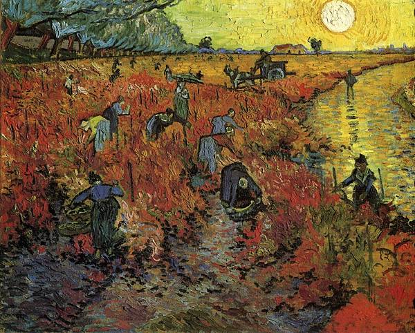 The Red Vinyard - (Vincent van Gogh - 1888)