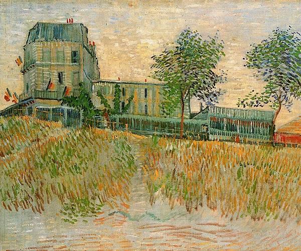The Restaurant de la Sirene at Asnieres - (Vincent van Gogh - 1887)