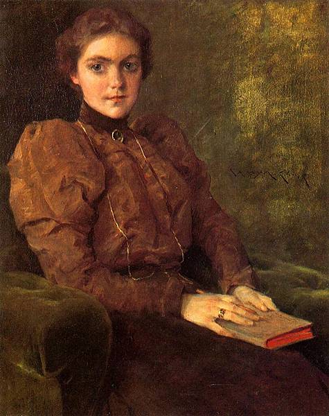 William Merritt Chase (1849-1916)-Chase_William_Merritt_A_Lady_in_Brown