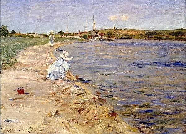 William Merritt Chase (1849-1916)-Chase_William_Merritt_Beach_Scene_Morning_at_Canoe_Place