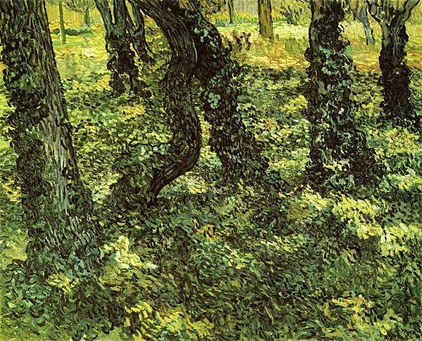 Trunks of Trees with Ivy - (Vincent van Gogh - 1889)