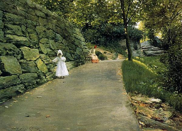 William Merritt Chase (1849-1916)-Chase_William_Merritt_In_the_Park_a_By_Path