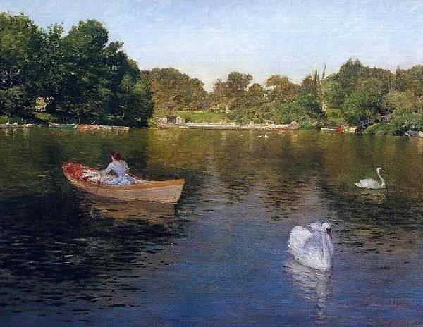 William Merritt Chase (1849-1916)-Chase_William_Merritt_On_the_Lake_Central_Park2