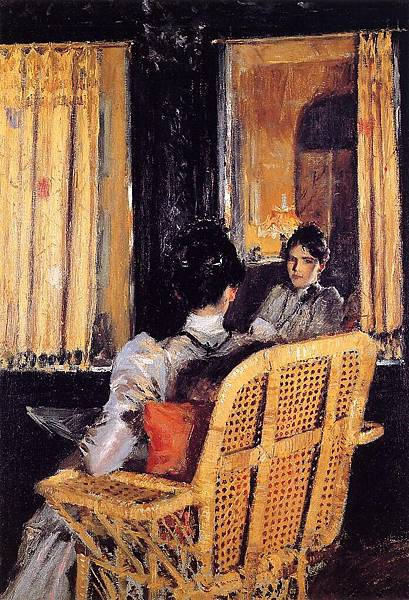 William Merritt Chase (1849-1916)-Chase_William_Merritt_Reflection