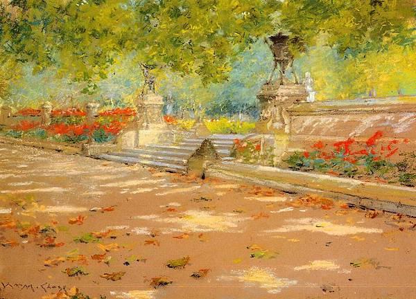 William Merritt Chase (1849-1916)-Chase_William_Merritt_Terrace_Prospect_Park