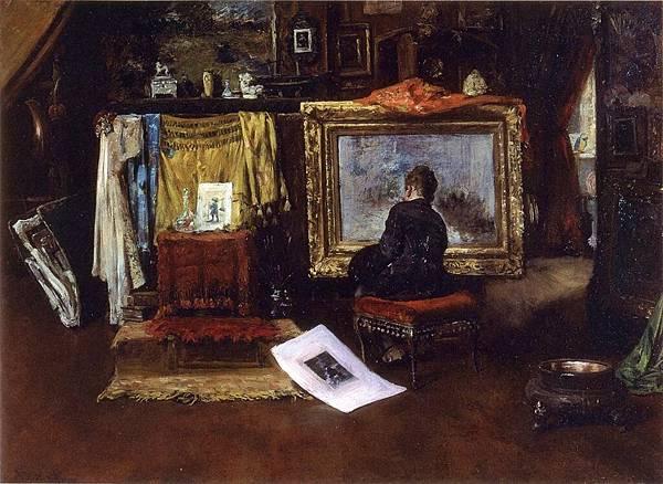 William Merritt Chase (1849-1916)-Chase_William_Merritt_The_Inner_Studio_Tenth_Street