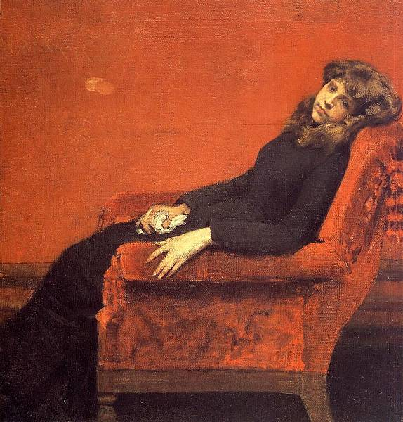 William Merritt Chase (1849-1916)-Chase_William_Merritt_The_Young_Orphan_Study_of_a_Young_Girl_aka_At_Her_Ease