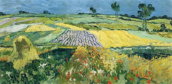 Wheatfields - (Vincent van Gogh - 1890)