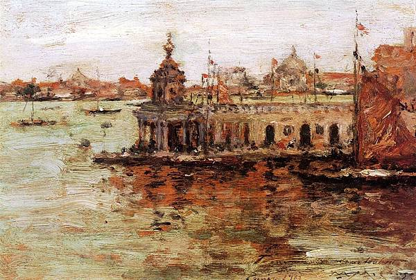 William Merritt Chase (1849-1916)-Chase_William_Merritt_Venice_View_of_the_Navy_Arsenal