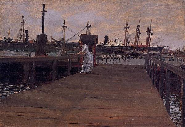 William Merritt Chase (1849-1916)-Chase_William_Merritt_Woman_on_a_Dock
