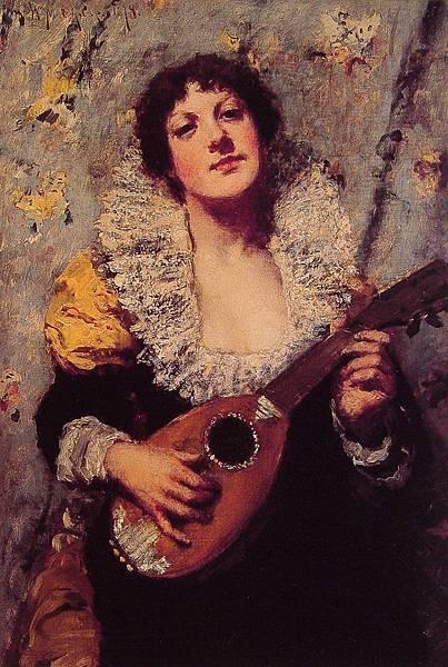 William Merritt Chase (1849-1916)-The_Mandolin_Player