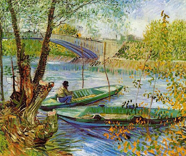 Fishing in the Spring, Pont de Clichy - (Vincent van Gogh - 1887)