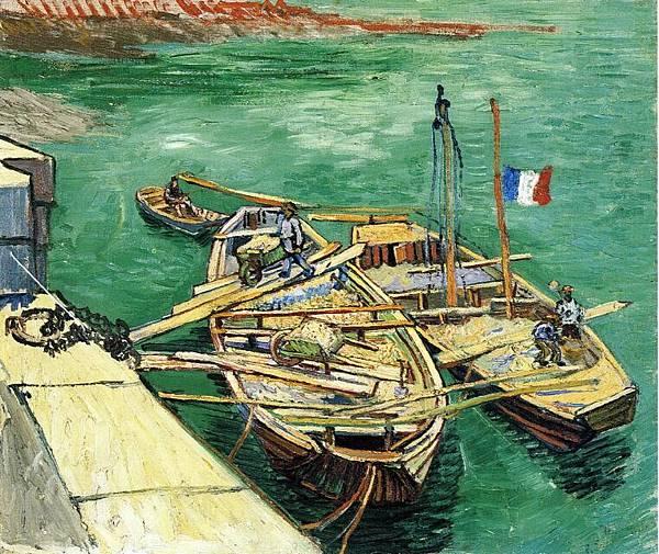 Sand Barges - (Vincent van Gogh - 1888)