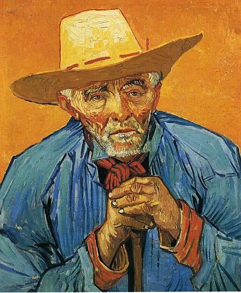 The Peasant, Portrait of Patience Escalier - (Vincent van Gogh - 1888)