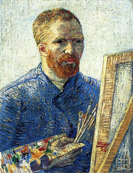 Self Portrait as a Painter aka Self Portrait in Front of the Easel - (Vincent van Gogh - 1888)