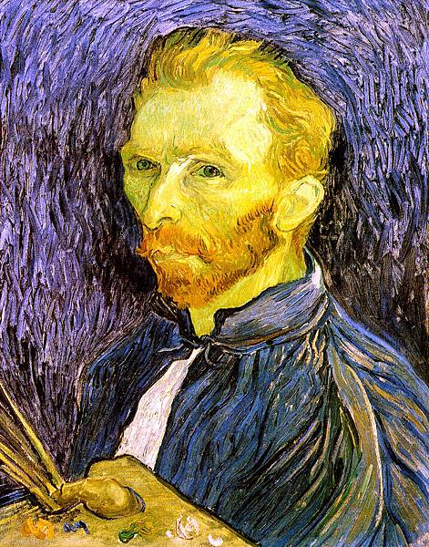 Self Portrait with Pallette - (Vincent van Gogh - 1889)