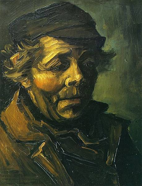 Head of a Peasant (study for The Potato Eaters) - (Vincent van Gogh - 1885)