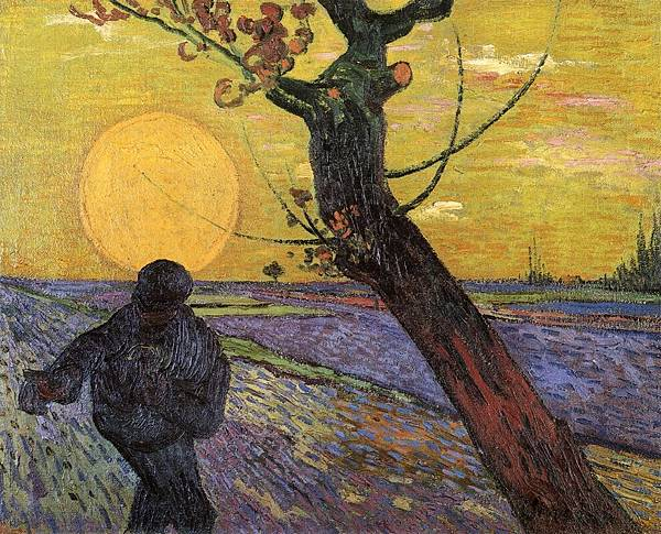 Sower with Setting Sun - (Vincent van Gogh - 1888)