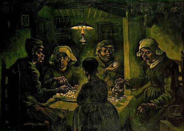 The Potato Eaters - (Vincent van Gogh - 1885) 3
