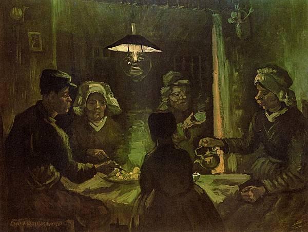 The Potato Eaters - (Vincent van Gogh - 1885)