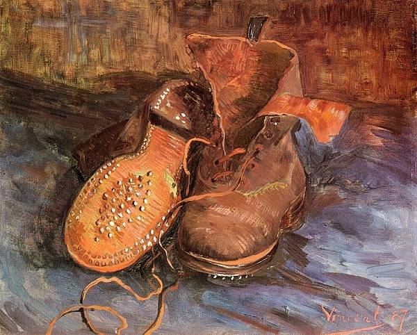 A Pair of Shoes - (Vincent van Gogh - 1887)