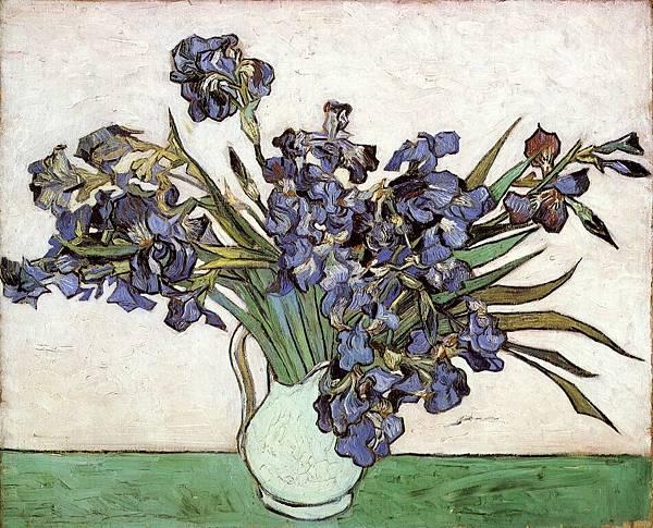 Irises - (Vincent van Gogh - 1890)
