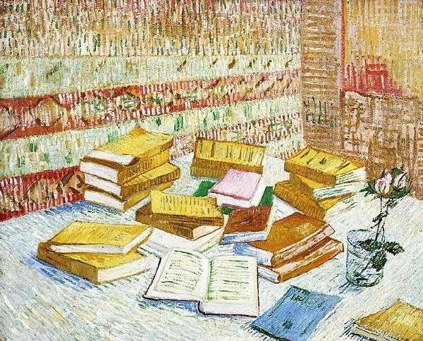 Still Life with Books, Romans Parisiens - (Vincent van Gogh - 1887-1888)