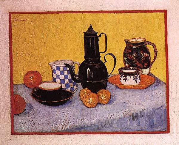 Still Life with Coffeepot - (Vincent van Gogh - 1888)