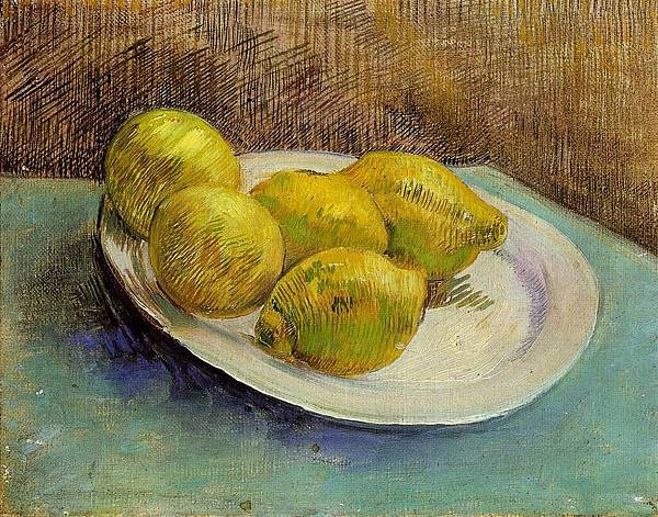 Still Life with Lemons on a Plate - (Vincent van Gogh - 1887)