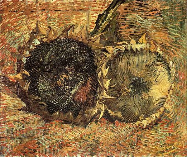 Still Life with Two Sunflowers - (Vincent van Gogh - 1887)  2
