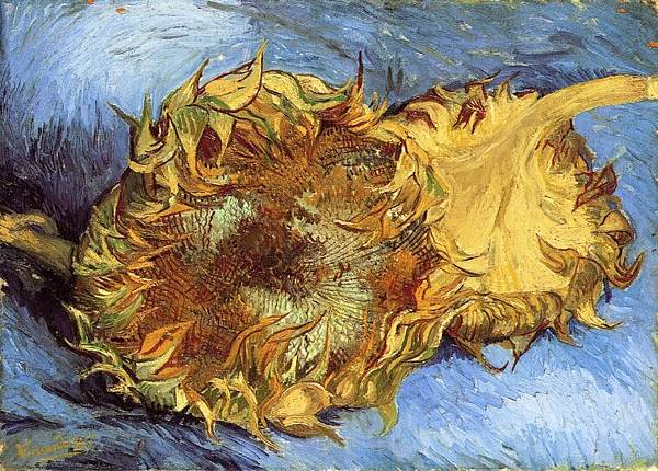 Still Life with Two Sunflowers - (Vincent van Gogh - 1887)