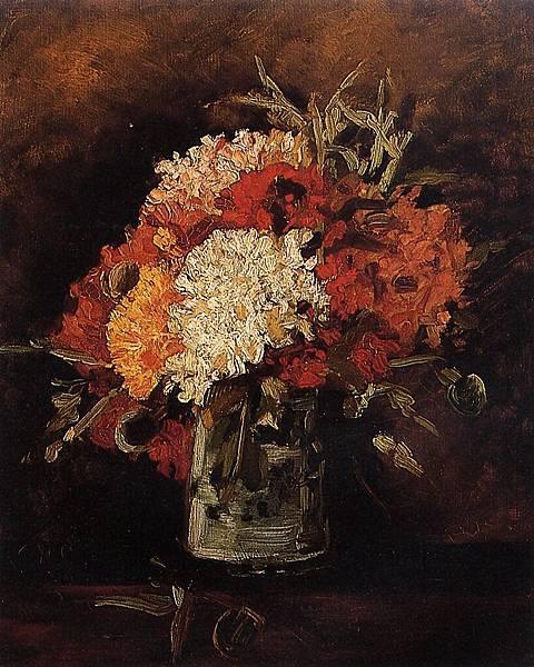 Vase with Carnations - (Vincent van Gogh - 1886)