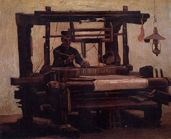 Weaver, seen from the Front - (Vincent van Gogh - 1884)