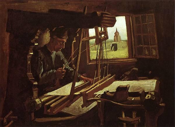 Weaver near an Open Window - (Vincent van Gogh - 1884)