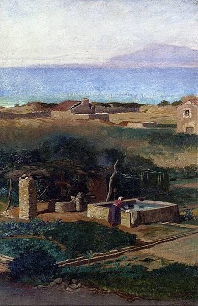Bordighera, Italy - (Elihu Vedder - circa 1880)