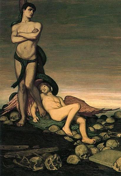 Elihu Vedder (1836-1923) The Last Man -1886-1891