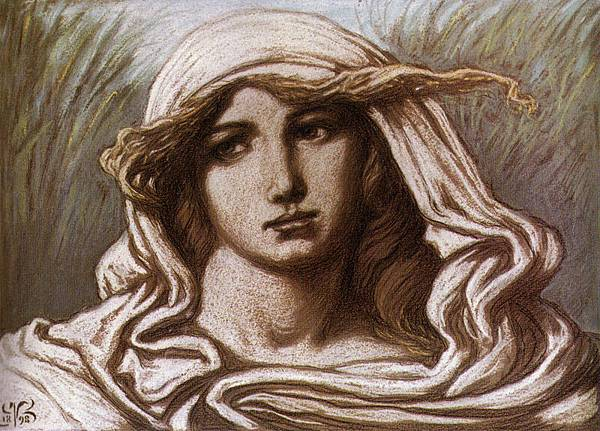Head of a Young Woman, Elihu Vedder, 1900