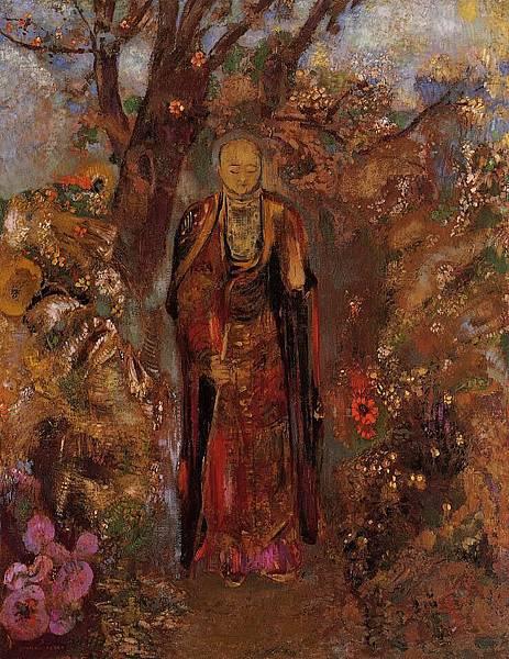 Odilon Redon (1840-1916) Buddah Walking among the Flowers - (Odilon Redon - 1905)