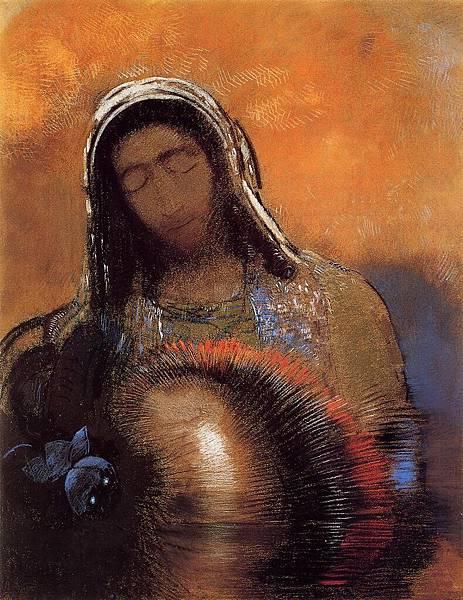 Odilon Redon (1840-1916) Buddha - (Odilon Redon - circa 1906)
