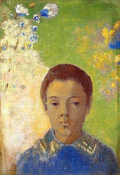 Odilon Redon (1840-1916) Portrait of Ari Redon - (Odilon Redon - circa 1898)