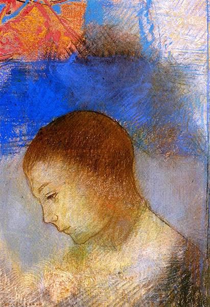 Odilon Redon (1840-1916) Portrait of Ari Redon in Profile