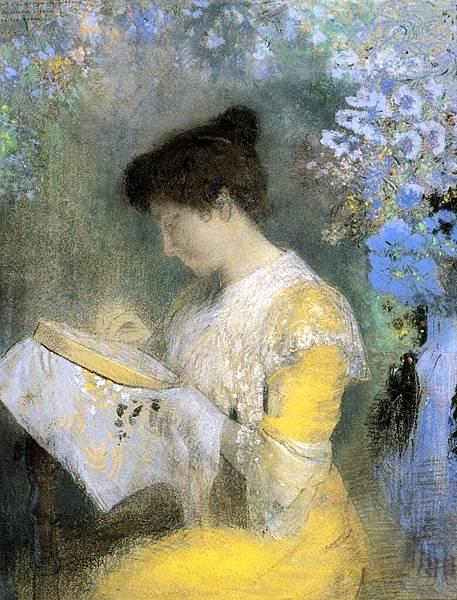 Odilon Redon (1840-1916) Portrait of Madame Arthur Fontaine - (Odilon Redon - 1901)