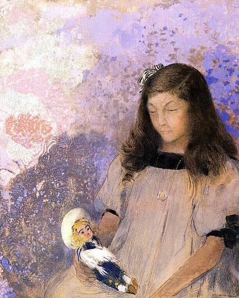 Odilon Redon (1840-1916) Portrait of Simone Fayet - (Odilon Redon - 1907)