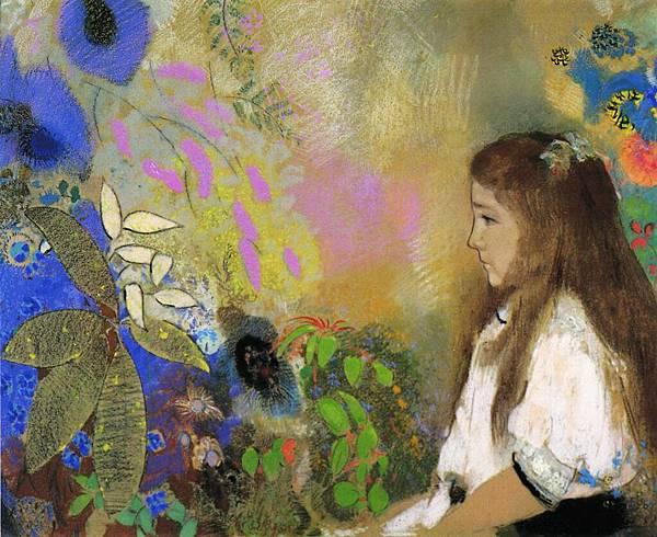 Odilon Redon (1840-1916) Portrait of Yseult Fayet - (Odilon Redon - 1908)